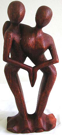Unique home fashions, wood figurine, lovers gift, dancing statue decor, Bali interior design, artisan ornament, abstract figure