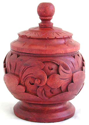 Handcrafted container, wooden carved handicrafts, Bali art ornaments, home fashions, modern designs, wood decor, exotic jars
