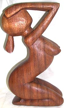 sculpted lady art, indonesian art gifts, decorative wooden ornament, interior furnishing, bedroom decorations
