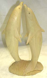 Sea life scene art, dolphin designed sculpture, handcrafted decorations, bali artisan gifts, batik paradise product, sculpted figures