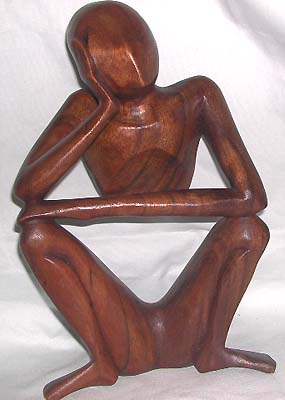 Unique gift, handmade statues, bali artisan figurine, Batik abstract wood carvings, collectible sculpture