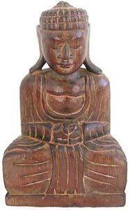 Shakyamuni buddha, indonesian fine art, handcrafted sculptures, unique carved gifts, home decor, interior designs