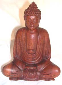 Religious sculptures, bali wood carvings, shakyamuni buddha, indonesian collectible, home furnishing, handicrafts