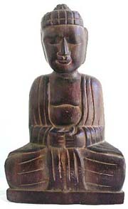 Blessing buddha figure, bali bali wood carvings, fine art products, handicraft, collectible figures, indonesia wooden statues