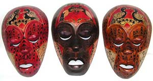 Wall decor, interior designs, aboriginal art, tribal mask, Bali ornaments, cultural images