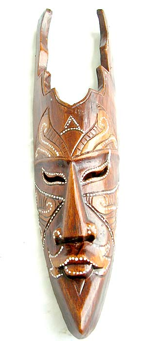 Bali collectibles, native masks, tribal artisan carvings, wood decor, handmade art, painted visage, figure design