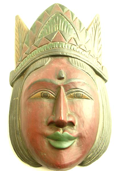 Female mask decor, artisan crafts, handmade wall art, bali sculptures, tribal images, new age carvings
