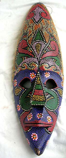 Wooden interior art, aboriginal artist designs, tribal mask, bali handicrafts, carved masks, wall decor