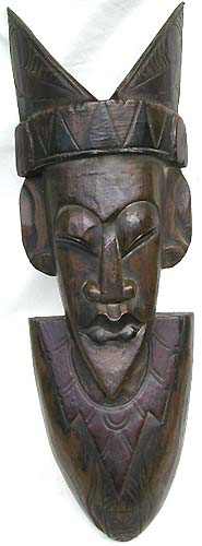 Sculpted bali mask, carving artisan, wall art decor, tribal designs, wooden novelties, home fashions, painted masks