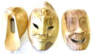 White wood mask, handmade masks, bali interior designs, indonesian novelty, new age craft products, cultural gifts