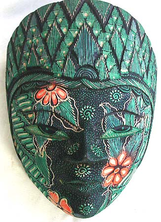 Rain forest art, quality tribal mask, native wall designs, interior furnishing, carved illustrations, bali gifts
