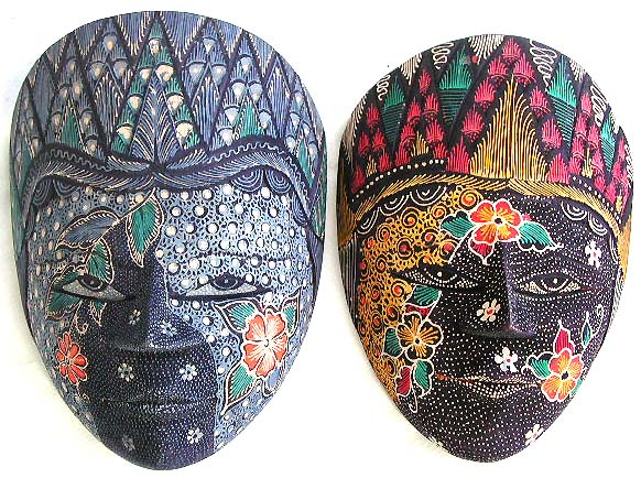 Crafted paintings, bali mask, indonesian handicrafts, wood designs, carved art, wall decor, aboriginal furnishings