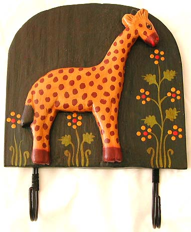 African animal carvings, home decor, wall furnishing, coat hangers, indonesian apparel hook, handcrafted fixtures