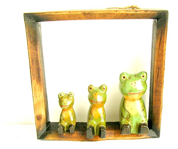 Fun frog decor, clothing hook, interior design, indonesian robe hangers, exotic white wood crafts,  artisan wood gift