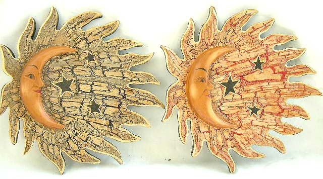 Celestial sun ornament, exotic batik carvings, interior designs, home furnishing, artisan novelties, indonesian folk art