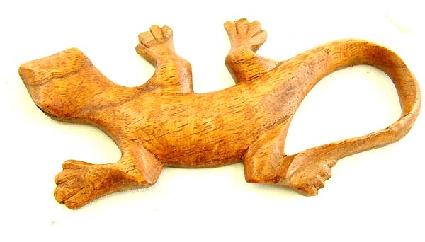 Balinese handicraft, carved gecko designs, trendy home decor, wall plaque, primitive art collectibles