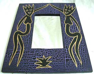 Engraved mirror, indonesian collectibles, wooden novelties, artisan carvings, wall decor, interior designs