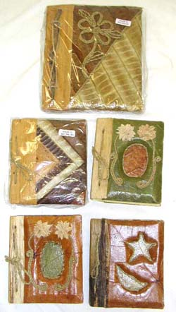 Unique craft gifts, balinese note book, scrapbooking, handmade office supplies, writing pad, sketch pads
