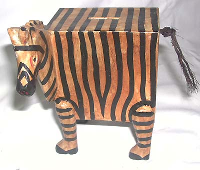 Animal shaped piggy banks, primitive art statues, wooden sculptures, crafted designs, batik art, home decor