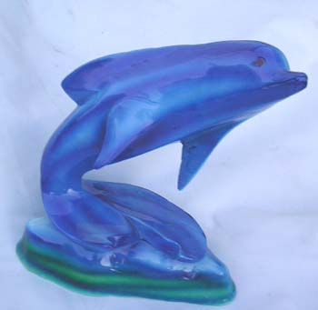 Ocean blue dolphin, indonesian art figurines, handcrafted bali statue, animal lovers home decoration