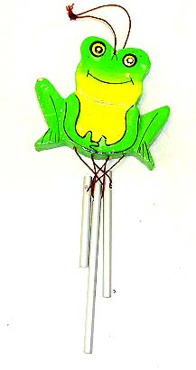 Kids room chimes, frog designed crafts, childrens wind chime, sculpted wooden gifts, indonesian art designs