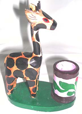 African designed crafts, kids tooth paste holder, wild animal figurines, washroom gifts, indonesian designed restroom accessory
