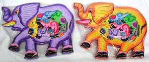 Elephant designed toy, kids bali colored game, animal picture puzzle, jigsaw puzzles, unique crafts, fun designed gift