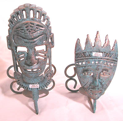 Tribal artisan mask, abstract crafts, balinese votive candles, pillar candle holder, home giftware, art accessory, handmade figurine