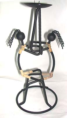 Wrought iron decor, candlestick holder, rattan furnishing, bali art designs top accessory, batik figurine