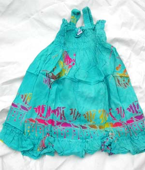 Kids fashion dress, girls bali bali clothing, childrens summer apparel, exotic batik fashions, unique resort wear