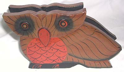 Animal lovers kitchen gifts, napkin holder, wood carvings, home decor, painted wood art, diner ware crafts, bali decor