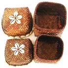 Rattan jewelry box, bali accessory chest, crafted decor, seashell gifts, batik artisan crafts