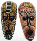 Aboriginal masks, wood carvings, wall decor, painted mask, bali art, artist inspired images, tribal gifts