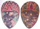 Traditional bali art decor, native masks, hand-painted novelties, wall accessories, folk art crafts, home fashions