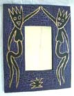 Primitive art designs. artist inspired mirror frame, mounted wall decor, indonesian handicrafts, interior mirrors, aboriginal crafts