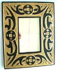 Native art designs, tribal framed mirror, wooden carvings, interior decor, indonesian handicrafts, handmade gifts, home mirrors